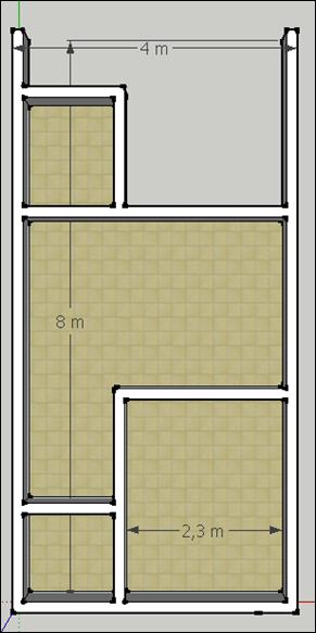 Denah Rumah 4x8 meter